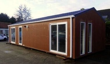 China Modern Flat Roof Prefabricated House , Pre-built Homes Fireproof mobile home,Belgium Exported Mobile homes distributor
